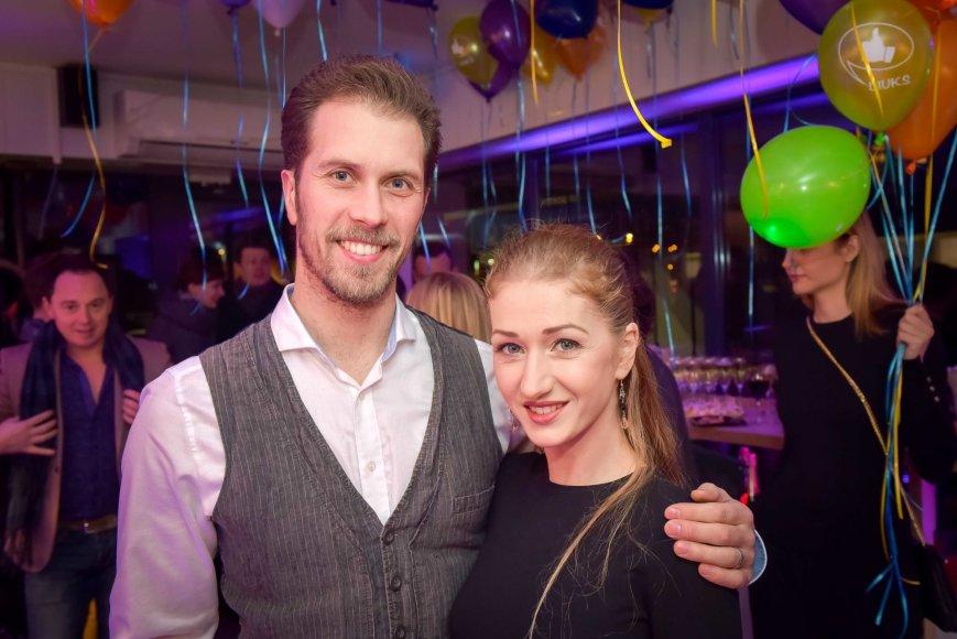 Gintarė Slausgalvienė su vyru Tomu