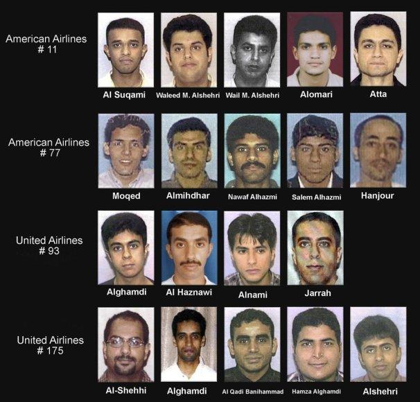 2001 m. rugsėjo 11 d. įtariamieji teroristai