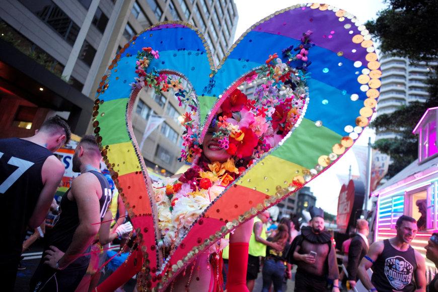Tradicinis homoseksualų Užgavėnių paradas Sidnėjuje