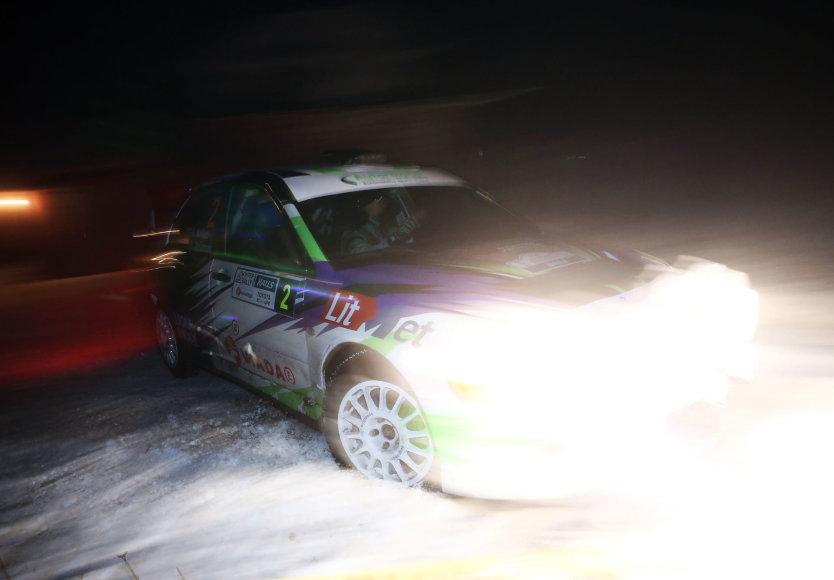 """""""Halls Winter Rally 2017"""" 4 greičio ruožas"""