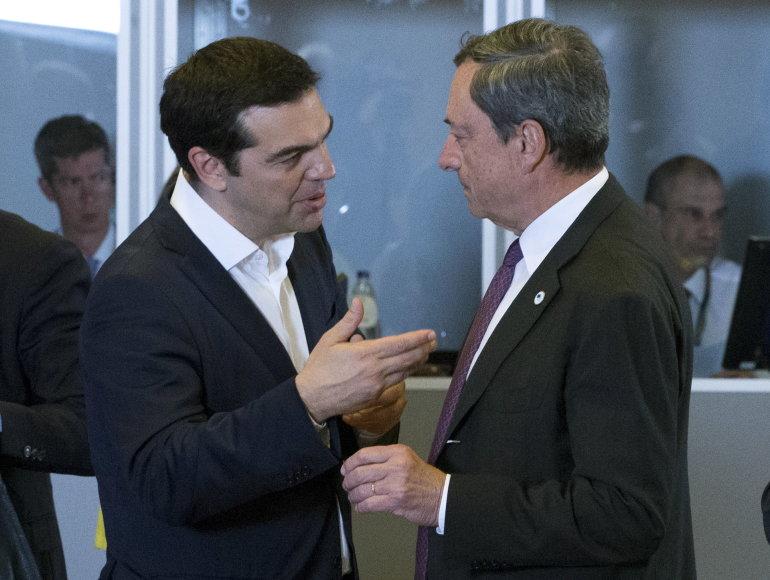 Aleksis Cipras ir Mario Draghi