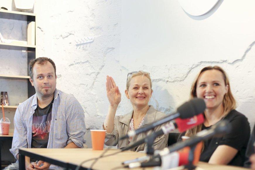 Justas Tertelis, Jolanta Dapkūnaitė ir Milda Ivanauskienė