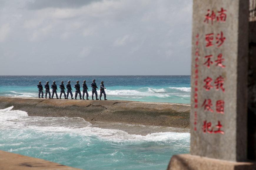 """""""Reuters""""/""""Scanpix"""" nuotr./Salos Pietų Kinijos jūroje"""