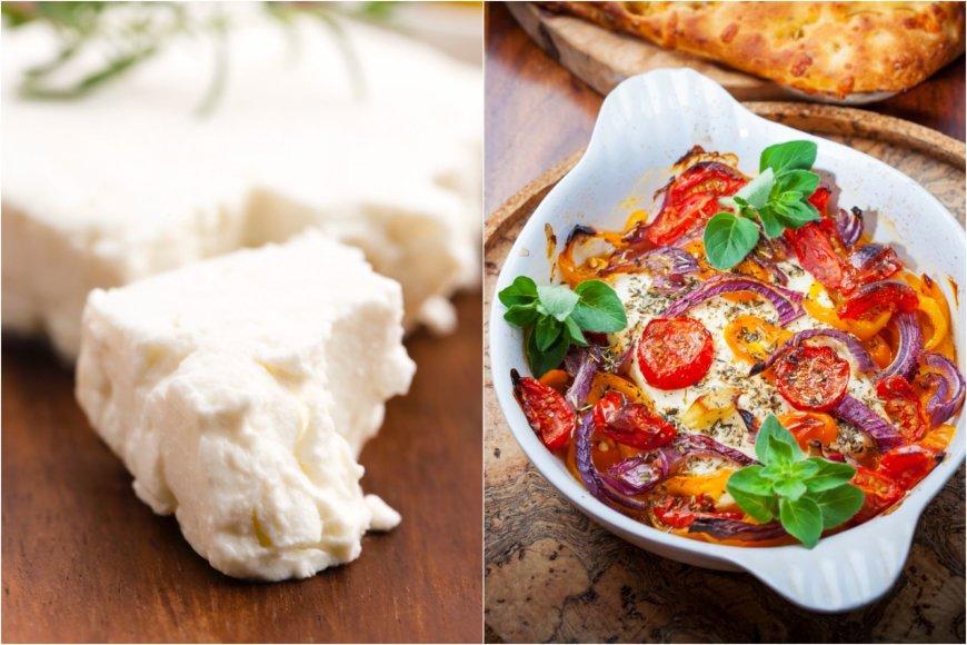 Su daržovėmis keptas feta sūris
