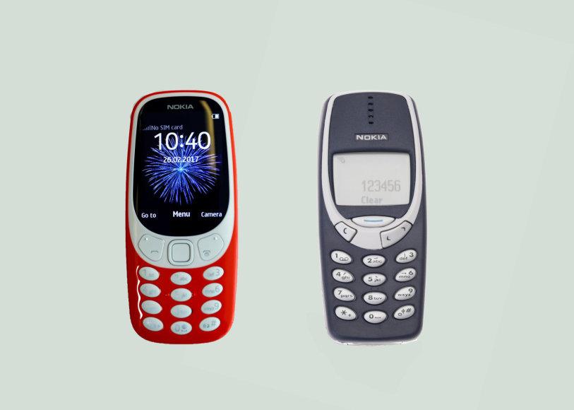 """Senoji ir naujoji """"Nokia 3310"""""""