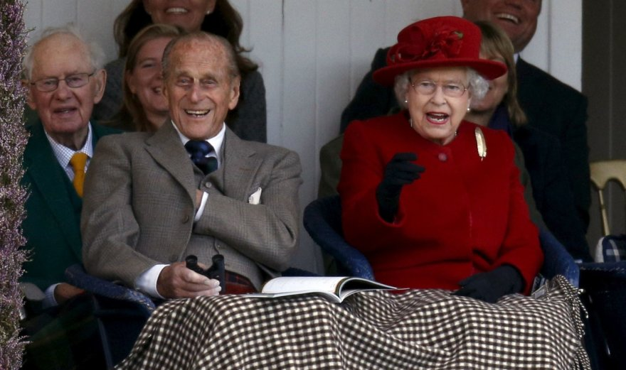 """Reuters""/""Scanpix"" nuotr./Princas Philipas ir karalienė Elizabeth II (2015 m.)"