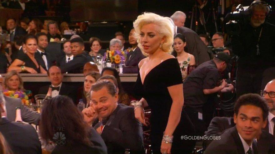 """""""Scanpix""""/Xposurephotos.com nuotr./Leonardo DiCaprio ir Lady Gaga"""