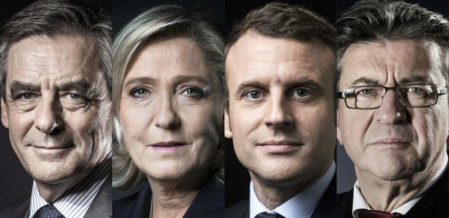 F.Fillon'as, M.Le Pen, E.Macronas or J.L.Melenchonas