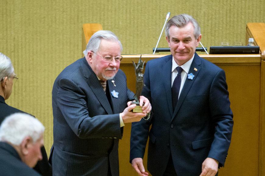 Vytautas Landsbergis ir Viktoras Pranckietis