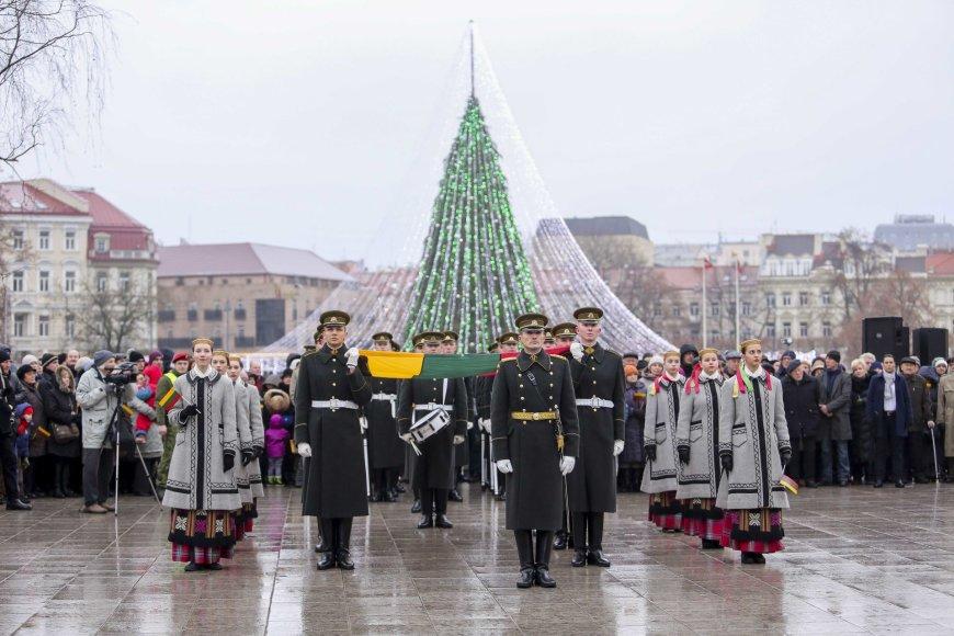 Vilniuje vyko Lietuvos vėliavos dienos minėjimas.