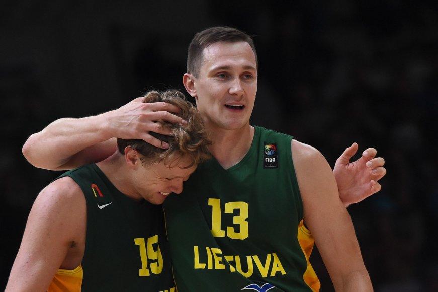 "AFP/""Scanpix"" nuotr./Mindaugas Kuzminskas ir Paulius Jankūnas"