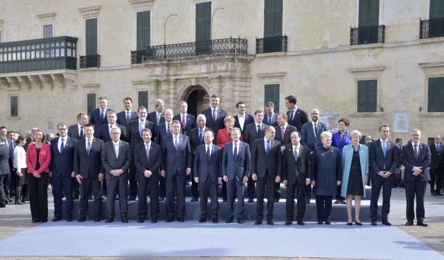 Europos Sąjungos lyderiai susirinko Maltoje