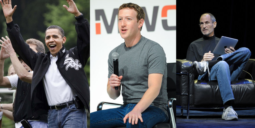 Baracas Obama, Markas Zucherbergas ir Steve'as Jobsas