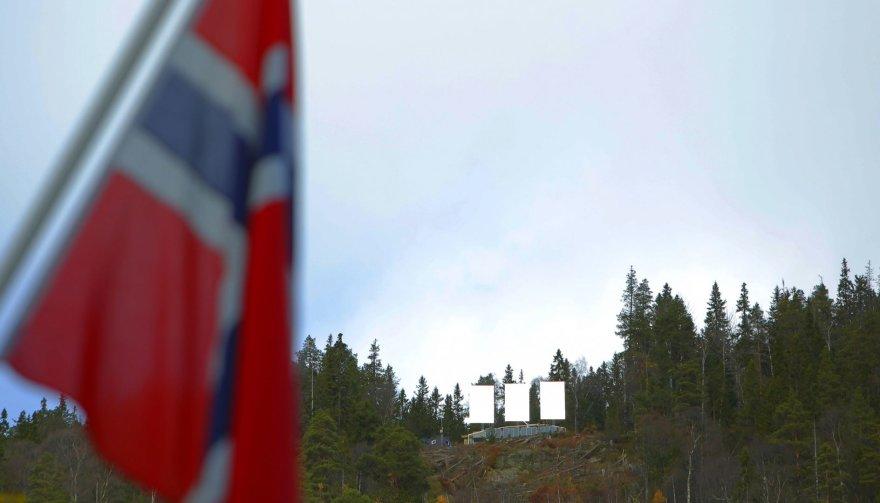Veidrodžiai ant kalvos šalia Rjukano miestelio