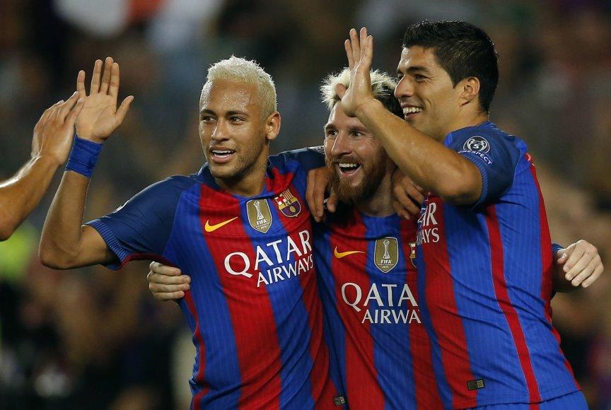 Neymaras, Lionelis Messi ir Luisas Suarezas