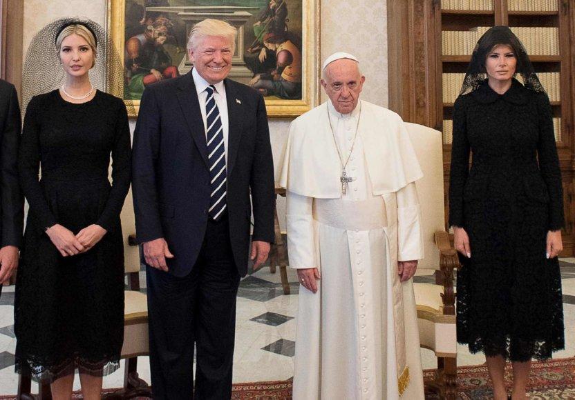 Ivanka Trump, Donaldas Trumpas, popiežius Pranciškus ir Melania Trump