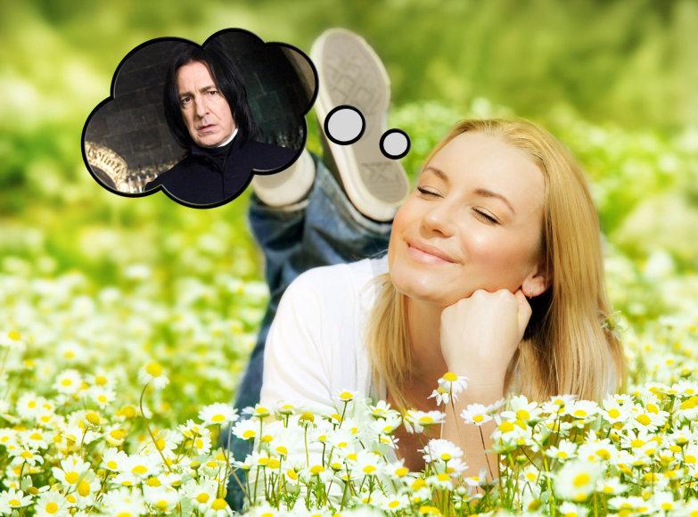 """Viena mergina prisipažino, kad yra palikusi vaikiną, nes šis nebuvo panašus į jos idealą – Sneipą iš """"Hario Poterio"""""""