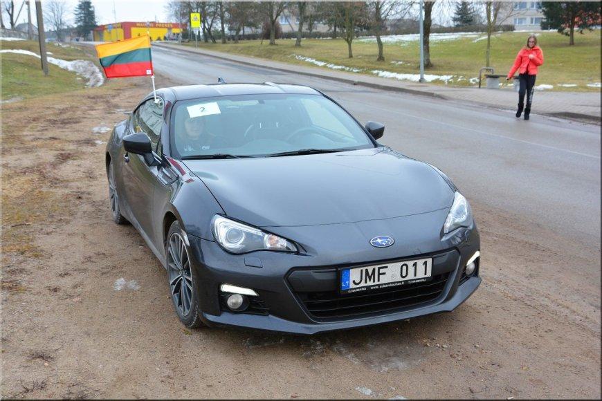 """Pasivažinėjimas """"Subaru"""" automobiliais vasario 16-ąją"""