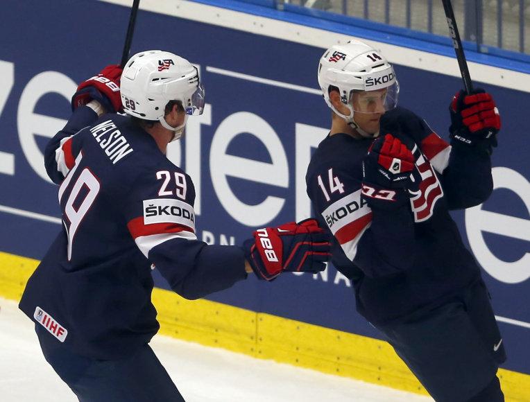 Pasaulio ledo ritulio čempionatas: JAV – Suomija