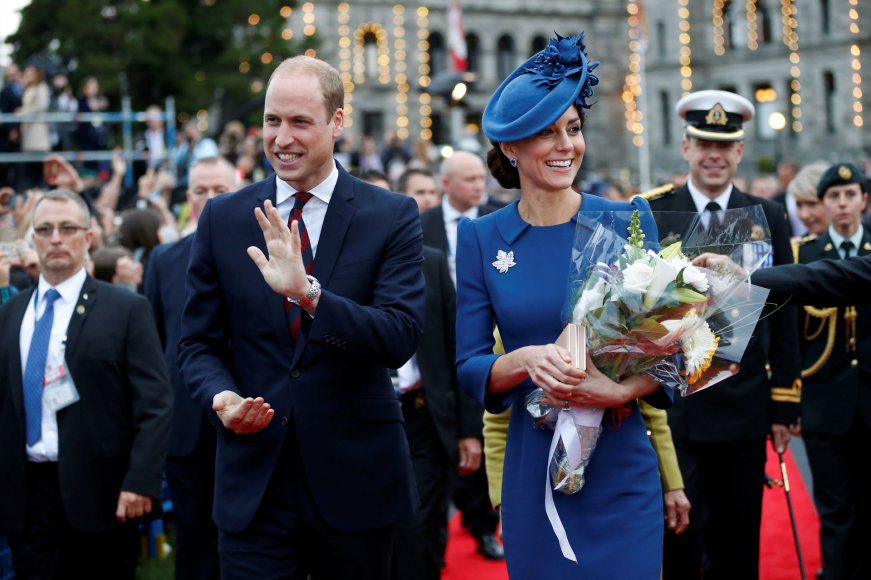 """""""Scanpix"""" nuotr./Princas Williamas ir hercogienė Catherine"""