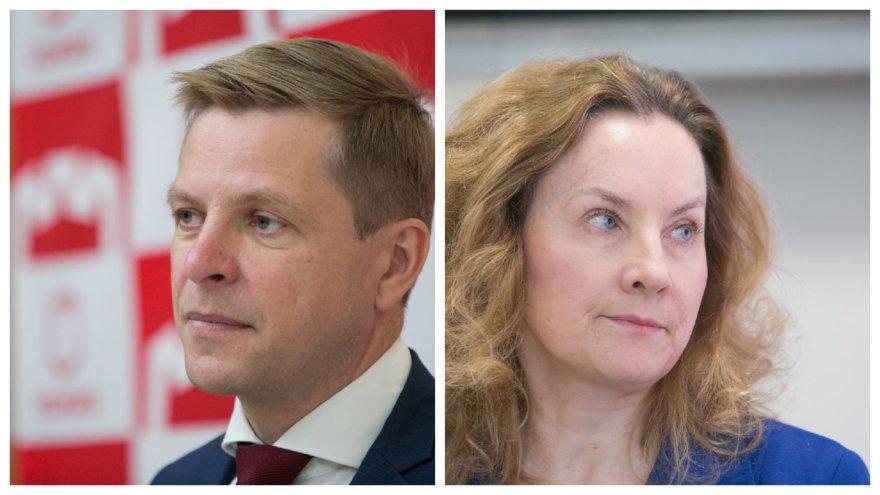 15min nuotr./Remigijus Šimašius ir Alma Vaitkunskienė