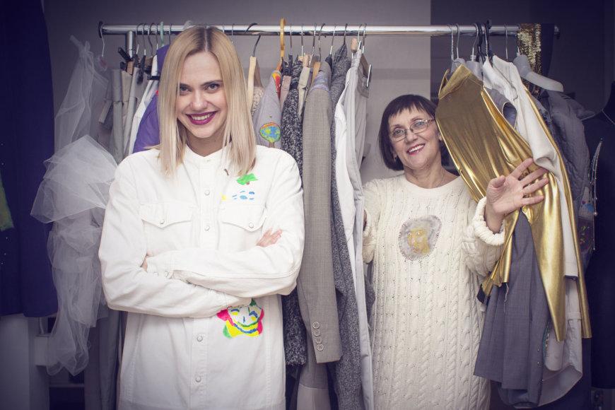 Dizainerė Janina Zibireva su mama