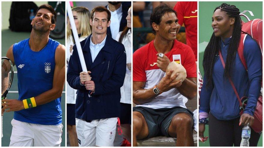 Novakas Džokovičius, Andy Murray, Rafaelis Nadalis, Serena Williams