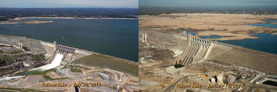 Sausra Kalifornijoje beveik išdžiovino Folsmo ežerą