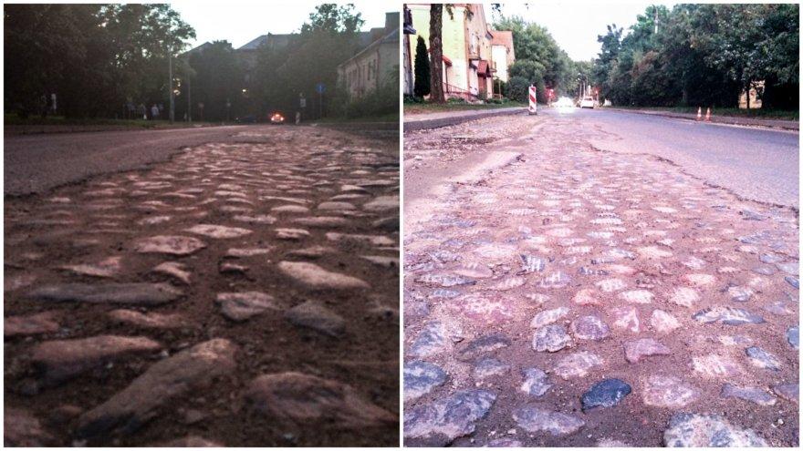 Vilniaus Šilo gatvėje atkastas senas grindinys