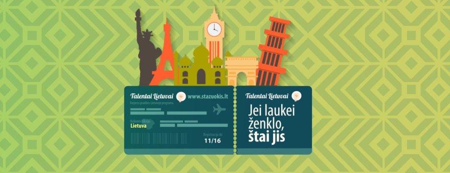 """Startavo penktasis programos """"Talentai Lietuvai"""" etapas"""