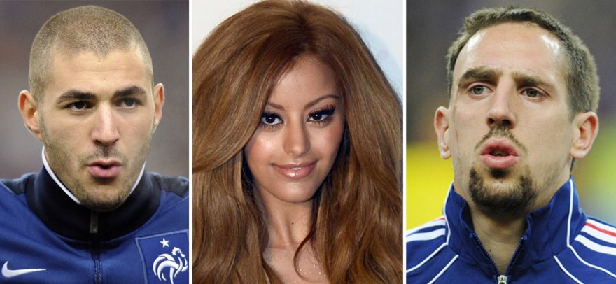 Karimas Benzema, Zahia Dehar ir Franckas Ribery
