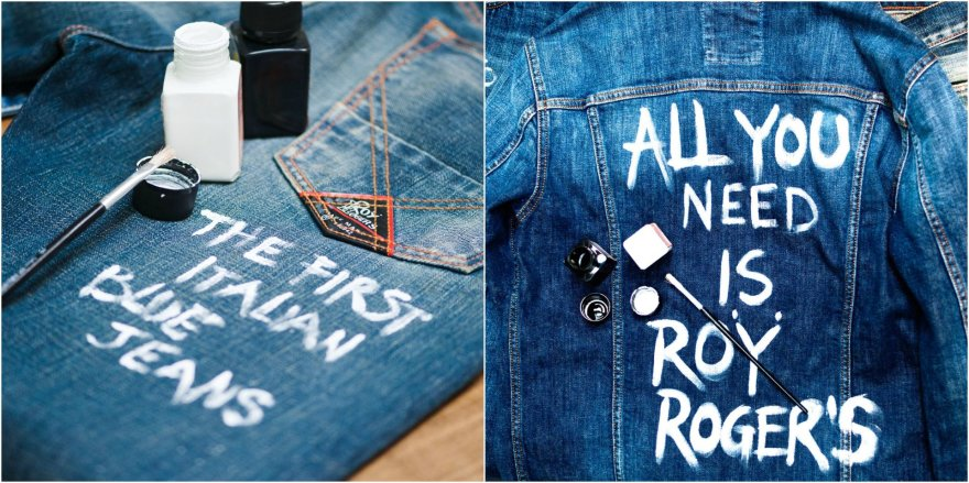 Šmaikštūs užrašai ant džinsinių rūbų