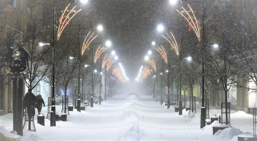 Sniegas Šiauliuose