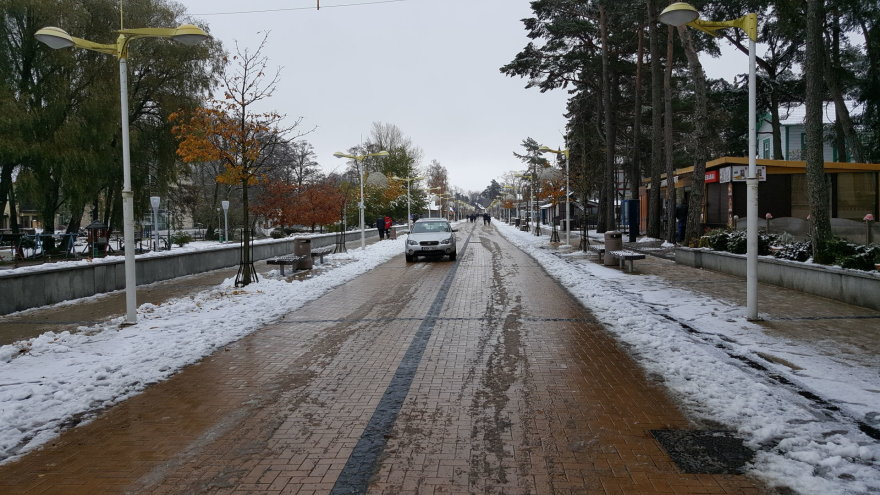 Pirmasis sniegas Palangoje