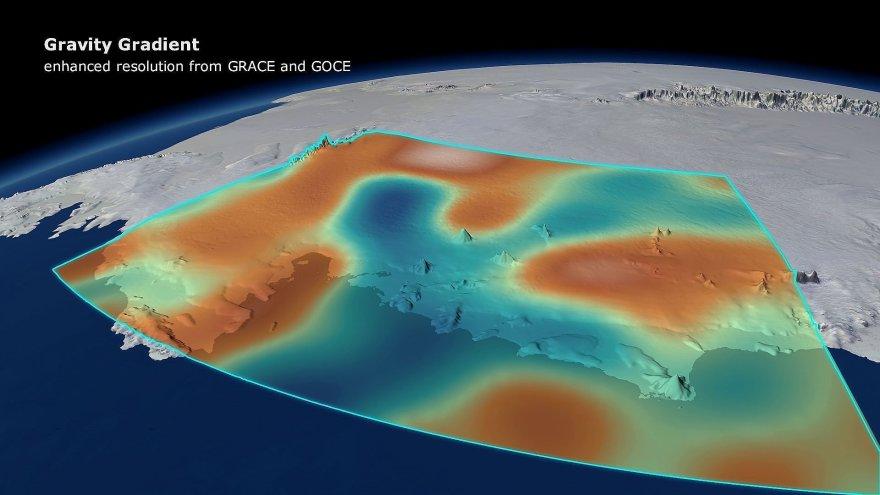 Tirpstantys antarktidos ledynai silpnina Žemės gravitacija