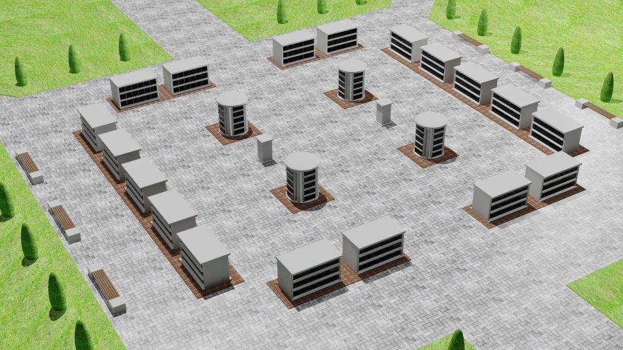 Klaipėdos Lėbartų kapinėse netrukus bus atvertas naujas kolumbariumas. Iš viso čia atsiras 900 vietų.
