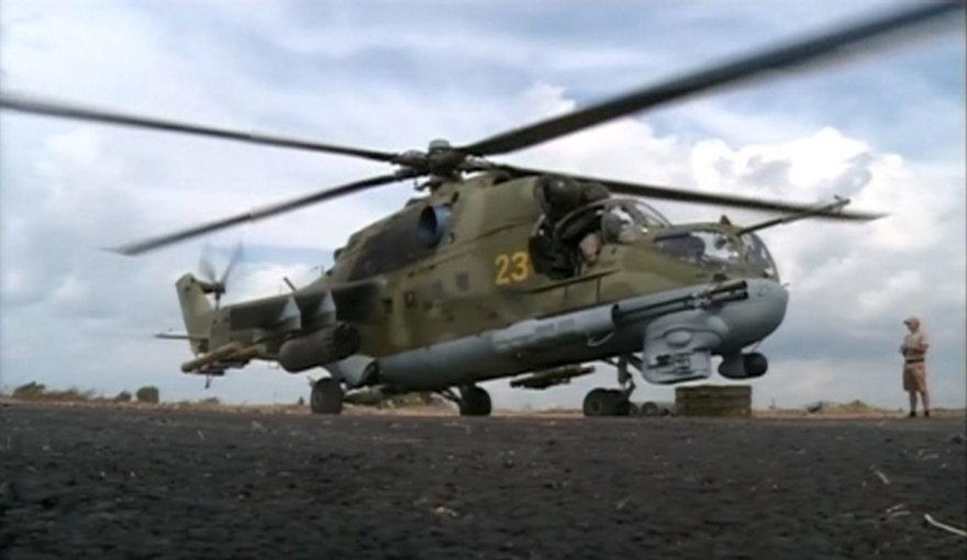 Rusijos karinis sraigtasparnis Sirijoje