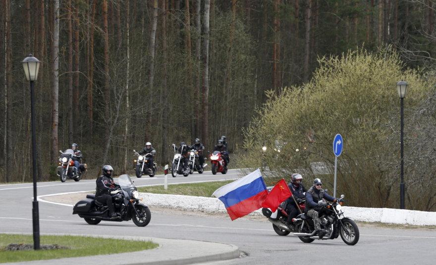 Rusų baikeriai nacionalistai nebuvo įleisti į Lenkiją