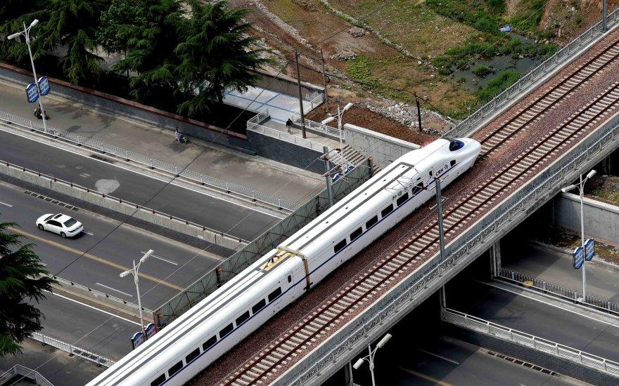 Traukinys Kinijoje