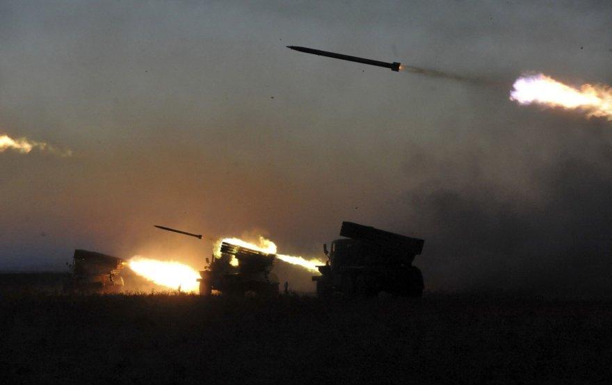 Ukrainos karinės pajėgos leidžia raketas