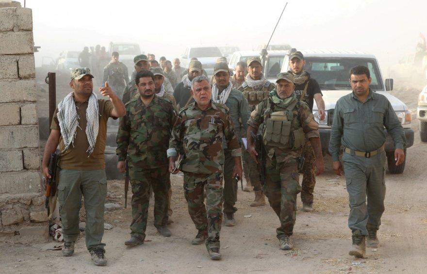 """Elitiniai Irako kariai ruošiasi Mosulo miesto vadavimui iš """"Islamo valstybės"""""""