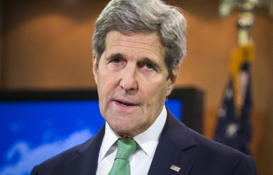 JAV valstybės sekretorius Johnas Kerry