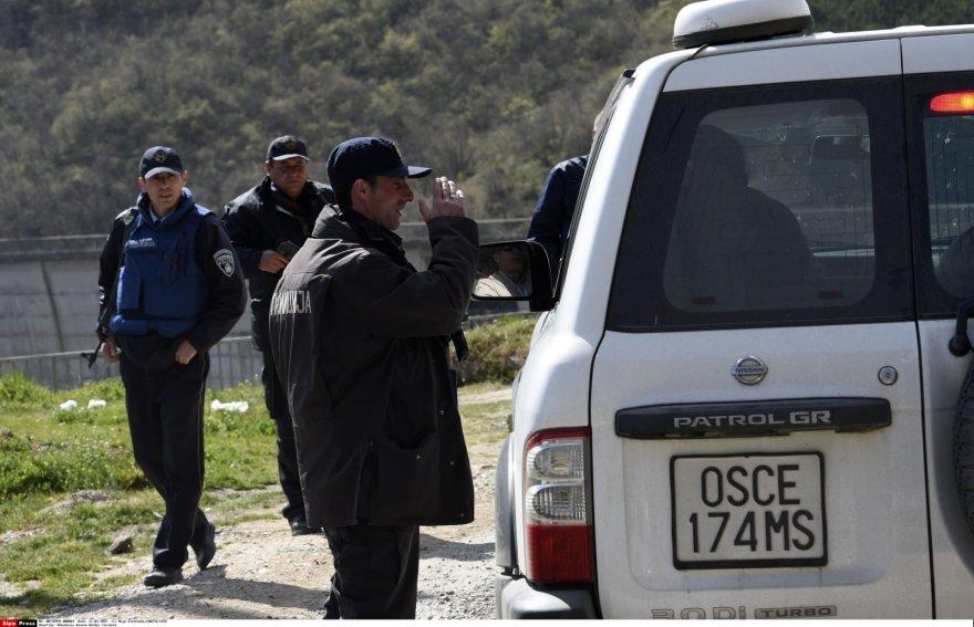 Policija Makedonijos ir Kosovo pasienyje