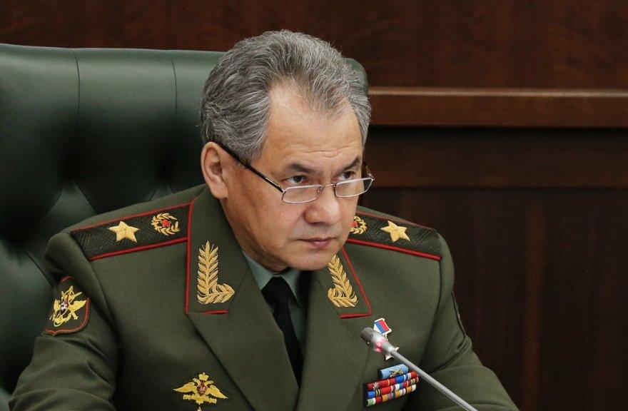 Rusijos kariuomenės vadas Sergejus Šoigu.