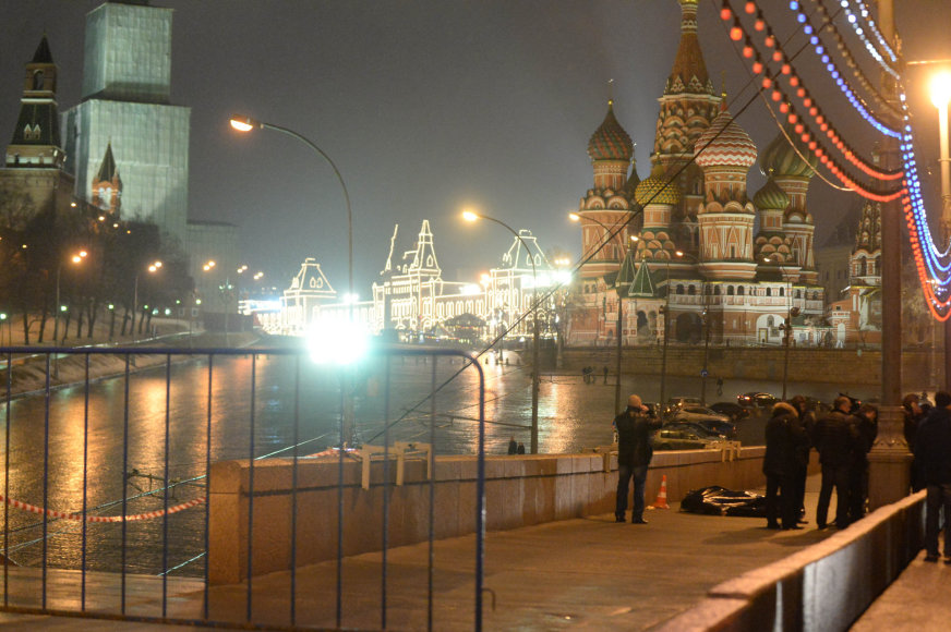 Maskvoje nužudytas opozicijos lyderis Borisas Nemcovas