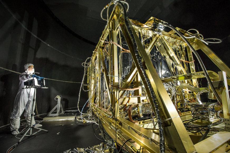 Kuriamas JWST kosminis teleskopas