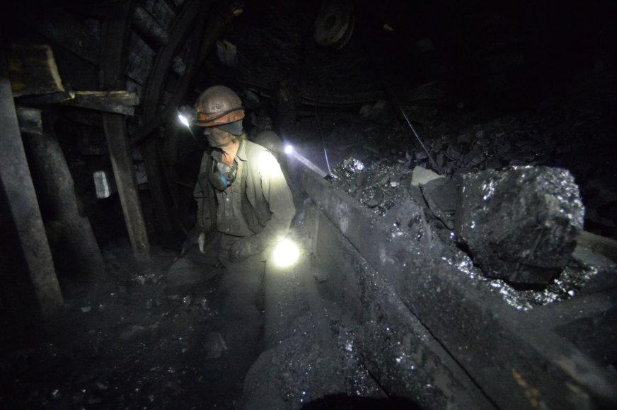 Angliakasys vienoje iš Donbaso anglies šachtų