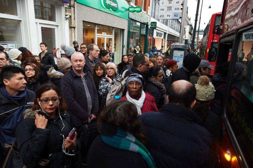 Londono metro darbuotojų protestas sukėlė chaosą