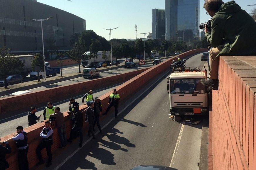 Sunkvežimis, pagrobtas Barselonoje