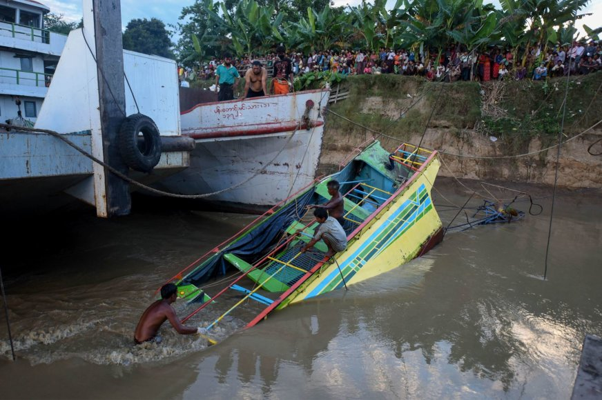Nuskendęs keltas Mianmare